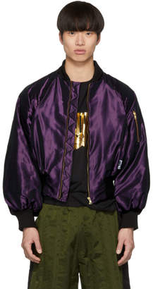 Palomo Spain SSENSE Exclusive Purple Bomber Jacket