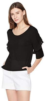 Painted Heart Women's Frill Sleeve Yoru Knit Blouse