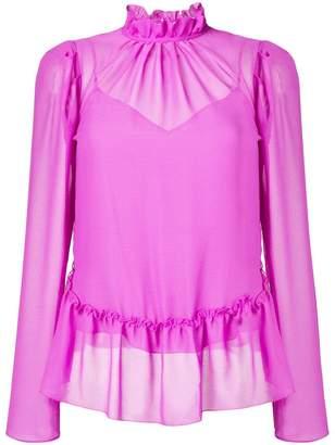 See by Chloe ruffled sheer blouse