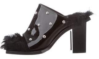 Marques Almeida Marques' Almeida Patent Leather Slide Sandals