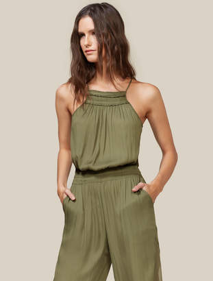 Halston Jumpsuit With Sheer Side Panels