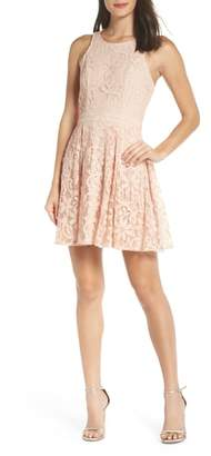 LuLu*s Racerback Lace Party Dress