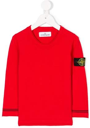 Stone Island Junior rolled edge logo top