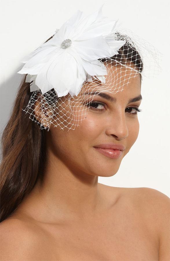 Tasha 'Birdcage Feather Flower' Fascinator Headband