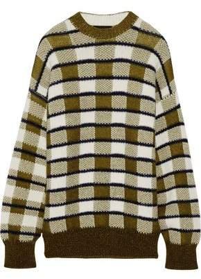 Joseph Oversized Checked Chunky-Knit Sweater