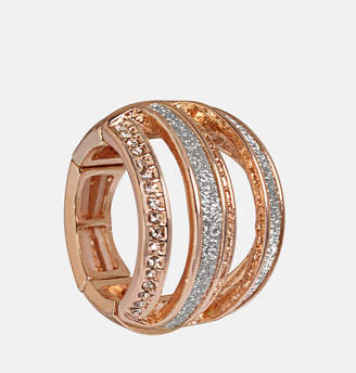 Avenue Rose Gold Glitter Space Ring