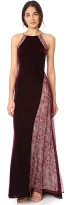 Badgley Mischka Velour Gown