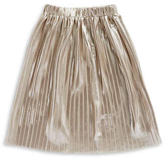 MANGUUN Metallic Pleated Skirt
