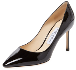 Jimmy Choo Romy 85mm Patent Leather Pointed-Toe Pump