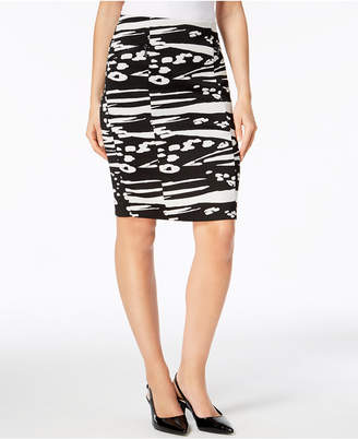 Alfani Knit Jacquard Pencil Skirt, Created for Macy's