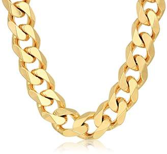 Crucible Jewelry Mens IP Stainless Steel Cuban Curb Chain Necklace (14 mm)