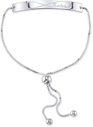 """Unwritten Fearless"""" Bolo Bracelet in Sterling Silver"""