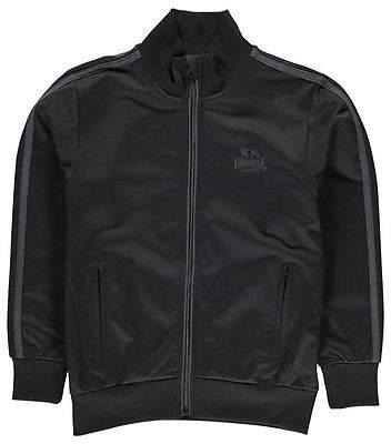 Kids Track Jacket Junior Boys Mock Neck Full Zip Ribbed Sports Top