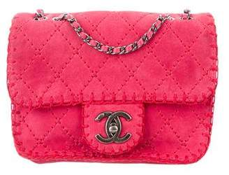 Chanel Suede Stitched Small Flap Bag