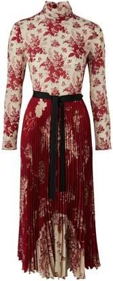 RED Valentino Silk Toile de Jouy dress