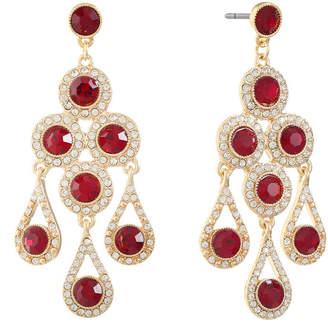 MONET JEWELRY Monet Jewelry Red Chandelier Earrings