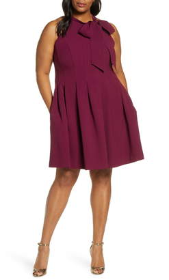 Vince Camuto Sleeveless Bow Fit & Flare Dress