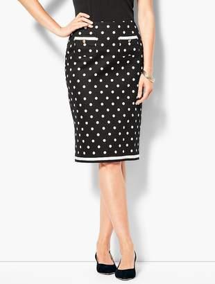 Talbots Dot Pencil Skirt