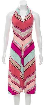 Yigal Azrouel Striped Halter Dress