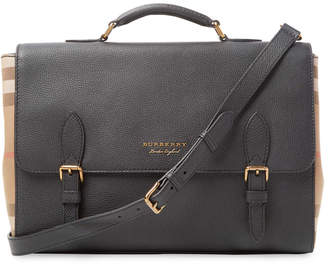 Burberry Leather & House Check Satchel