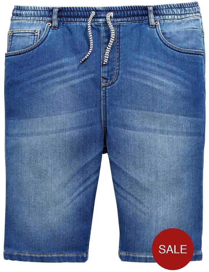 Boys Jersey Denim Pull On Shorts