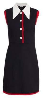 Miu Miu Jersey Contrast Collar Dress