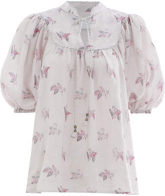 Zimmermann Bayou Piped Blouse