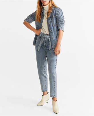 MANGO High Waist Acid Jeans