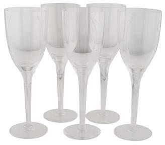 Lalique Set of 5 Ange Champagne Flutes