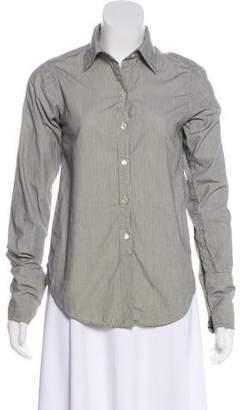 Nili Lotan Striped Button-Up Top