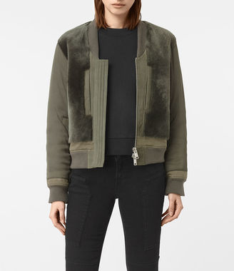 Finch Shearling Puffa Bomber Jacket $740 thestylecure.com