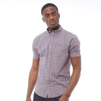 Ben Sherman Short Sleeve Square Check Shirt Blue