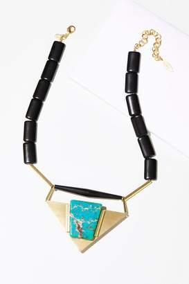 David Aubrey Eclipse Stone Pendant Necklace