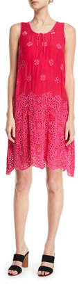 Johnny Was Tiered Eyelet Tank Dress