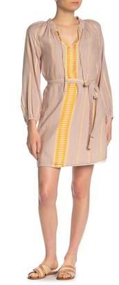 Lucky Brand Striped Long Sleeve Shift Dress