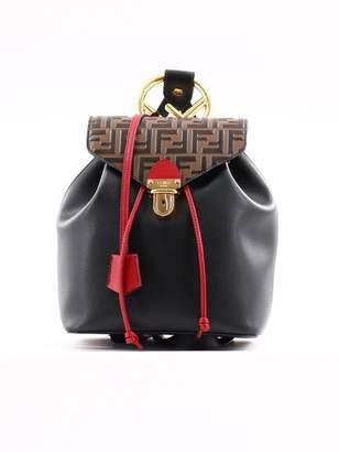 Fendi Black Ff Backpack