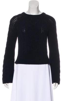 Intermix Cable Knit Crew Neck Sweater