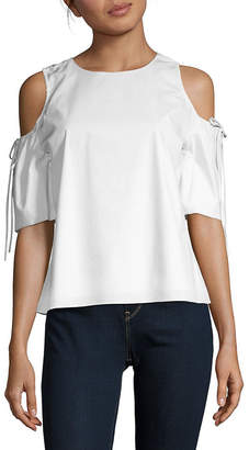 Saks Fifth Avenue Cold-Shoulder Tie-Sleeve Blouse