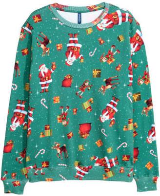 H&M Christmas Sweatshirt - Green