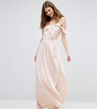 Vero Moda Tall Cold Shoulder Frill Front Maxi Dress