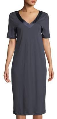 Hanro Lavender Short-Sleeve Nightgown