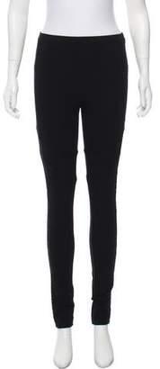 Just Cavalli Lace-Paneled Mid-Rise Leggings