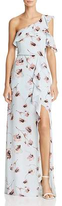 BCBGMAXAZRIA Floral Print One-Shoulder Gown - 100% Exclusive $338 thestylecure.com