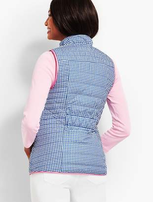 Talbots Quilted Gingham Vest