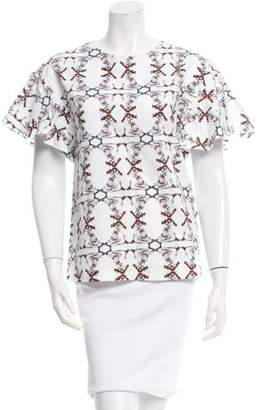Chloé Printed Short Sleeve Top