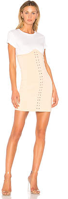 Endless Rose Knitted Corset T-Shirt Dress in Cream $99 thestylecure.com