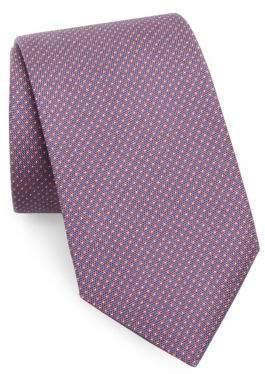 Corneliani Mini Target Print Silk Tie