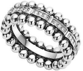 Women's Lagos Caviar Spark Diamond Band Ring $1,100 thestylecure.com