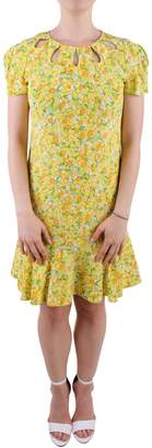 Moschino Lemon Print Silk Dress