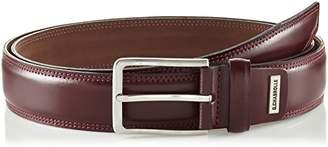 G.CHABROLLE Mens leather belt/Mens belt, business belt, leather belt curved, burgundy, Größe/Size:, Farbe/Color: